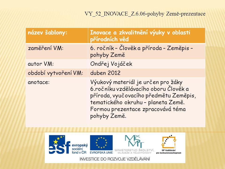 VY_52_INOVACE_Z.6.06-pohyby Země-prezentace
