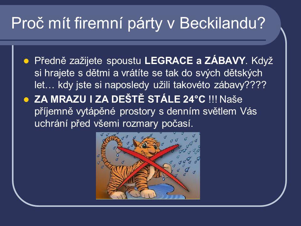 Proč mít firemní párty v Beckilandu