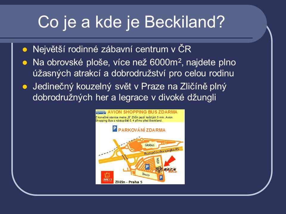 Co je a kde je Beckiland Největší rodinné zábavní centrum v ČR