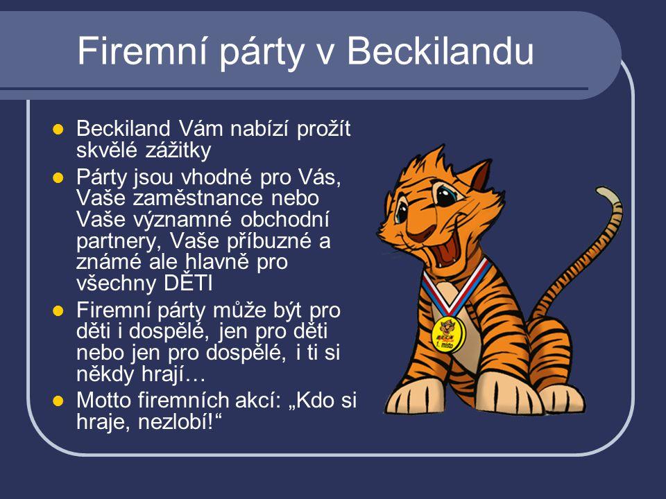 Firemní párty v Beckilandu