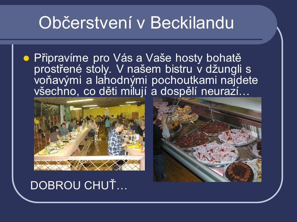 Občerstvení v Beckilandu