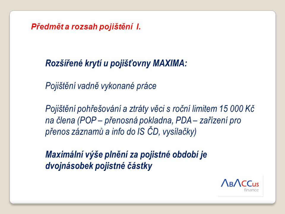 Rozšířené krytí u pojišťovny MAXIMA: Pojištění vadně vykonané práce