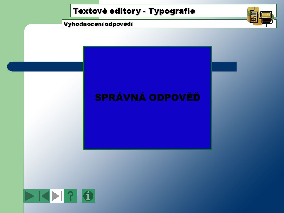 Textové editory - Typografie