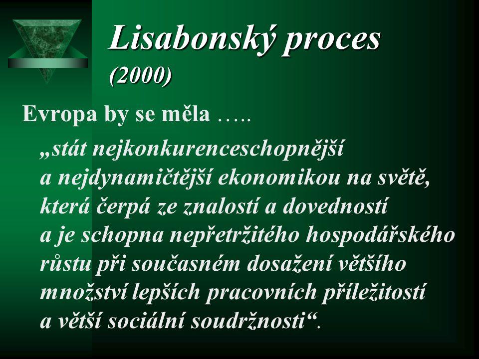 Lisabonský proces (2000) Evropa by se měla …..