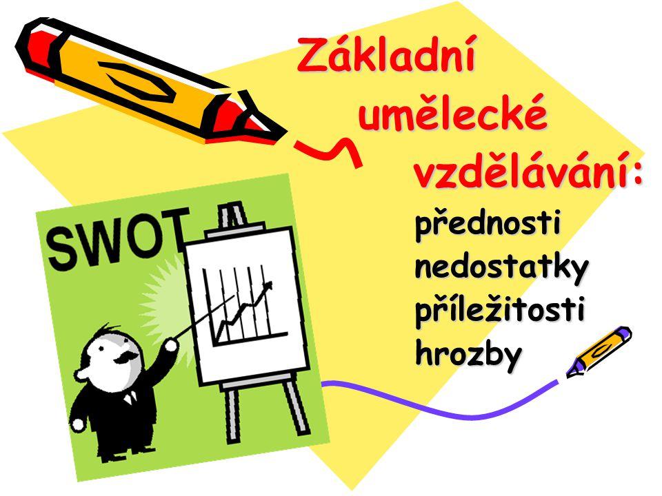 Základní umělecké vzdělávání: přednosti nedostatky příležitosti hrozby