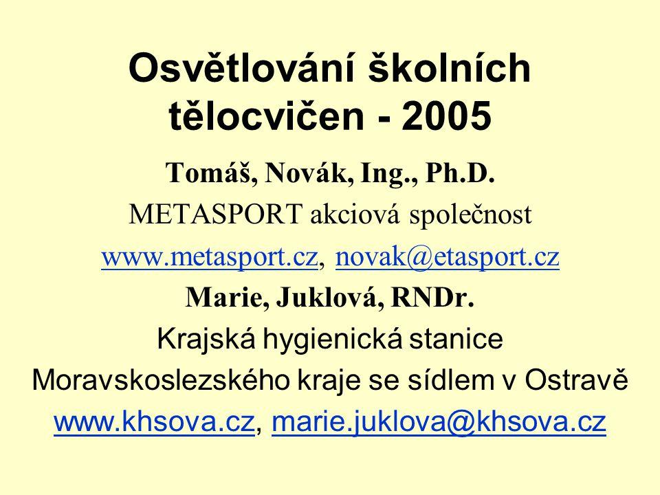 Osvětlování školních tělocvičen - 2005