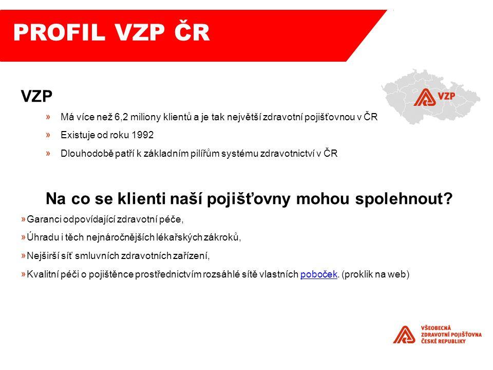 PROFIL VZP ČR VZP Na co se klienti naší pojišťovny mohou spolehnout