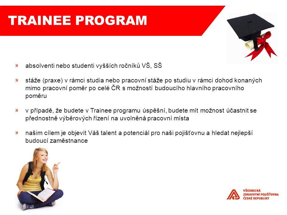 Trainee program absolventi nebo studenti vyšších ročníků VŠ, SŠ