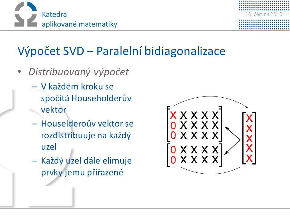 Výpočet SVD – Paralelní bidiagonalizace