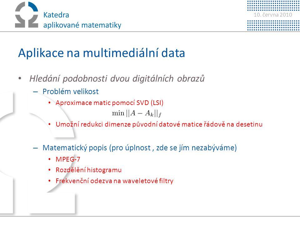 Aplikace na multimediální data
