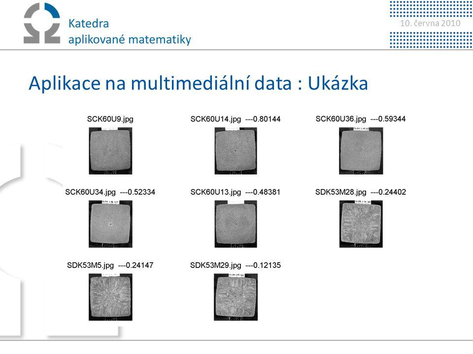 Aplikace na multimediální data : Ukázka