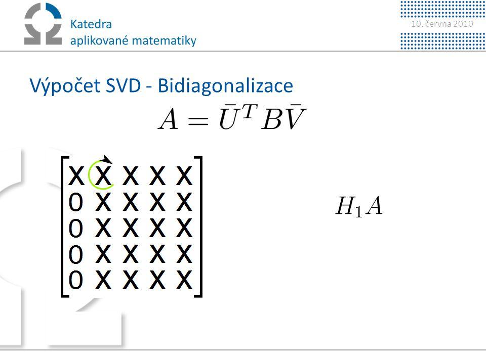 Výpočet SVD - Bidiagonalizace