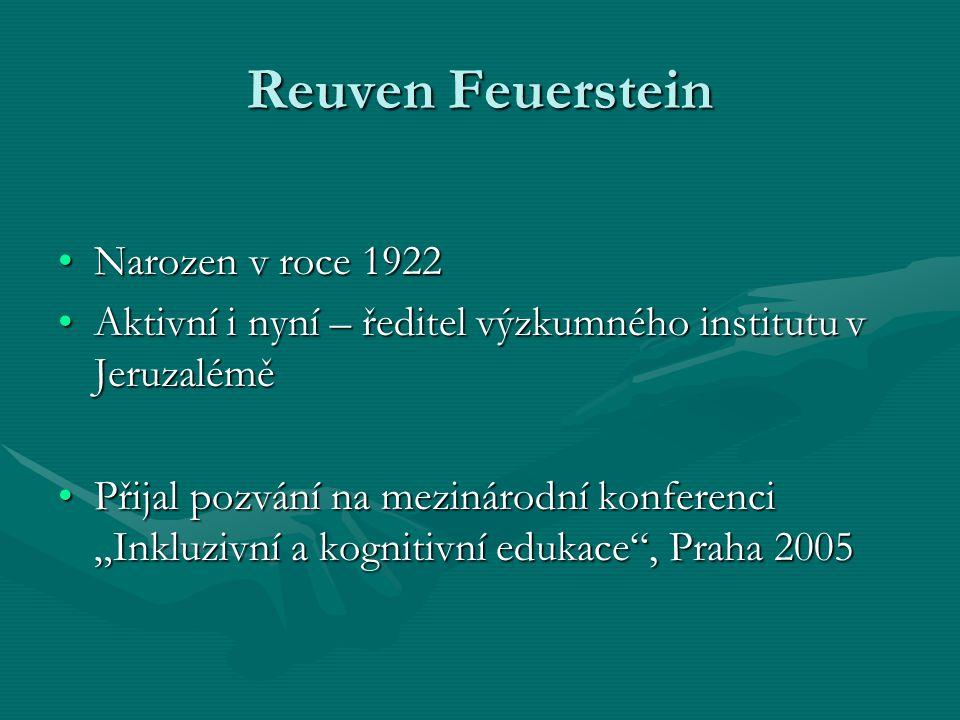 Reuven Feuerstein Narozen v roce 1922