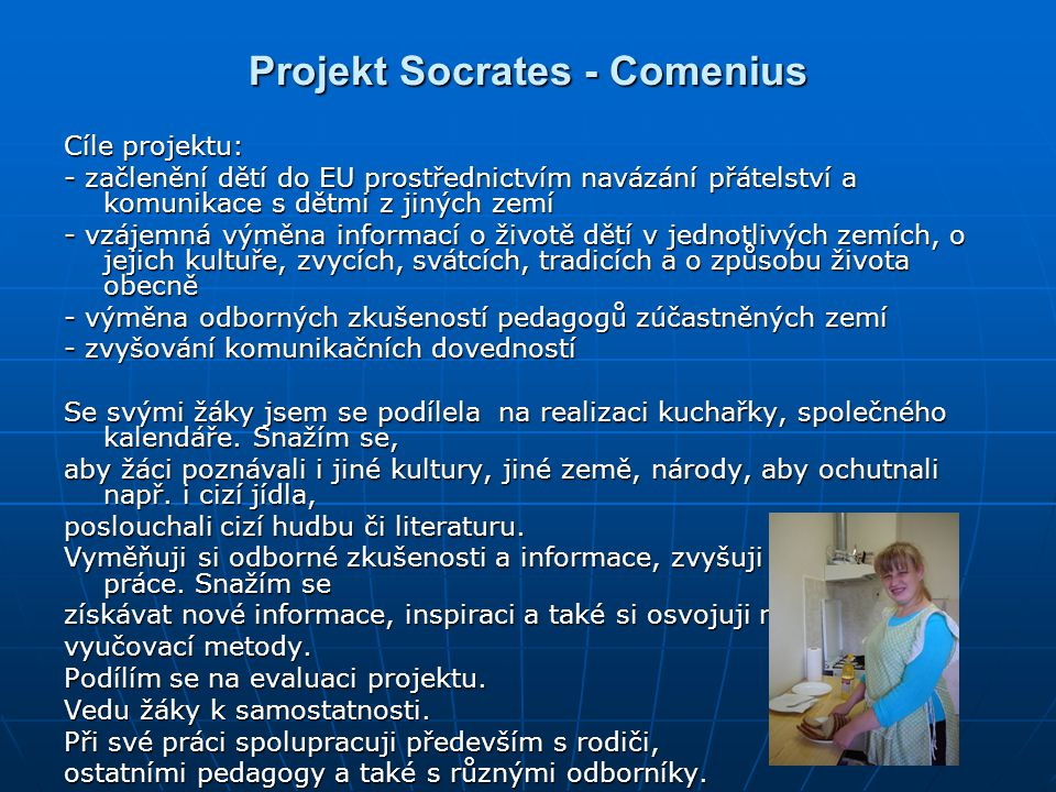 Projekt Socrates - Comenius