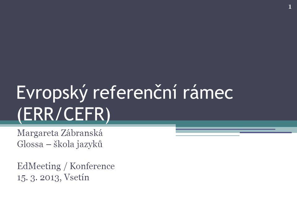 Evropský referenční rámec (ERR/CEFR)
