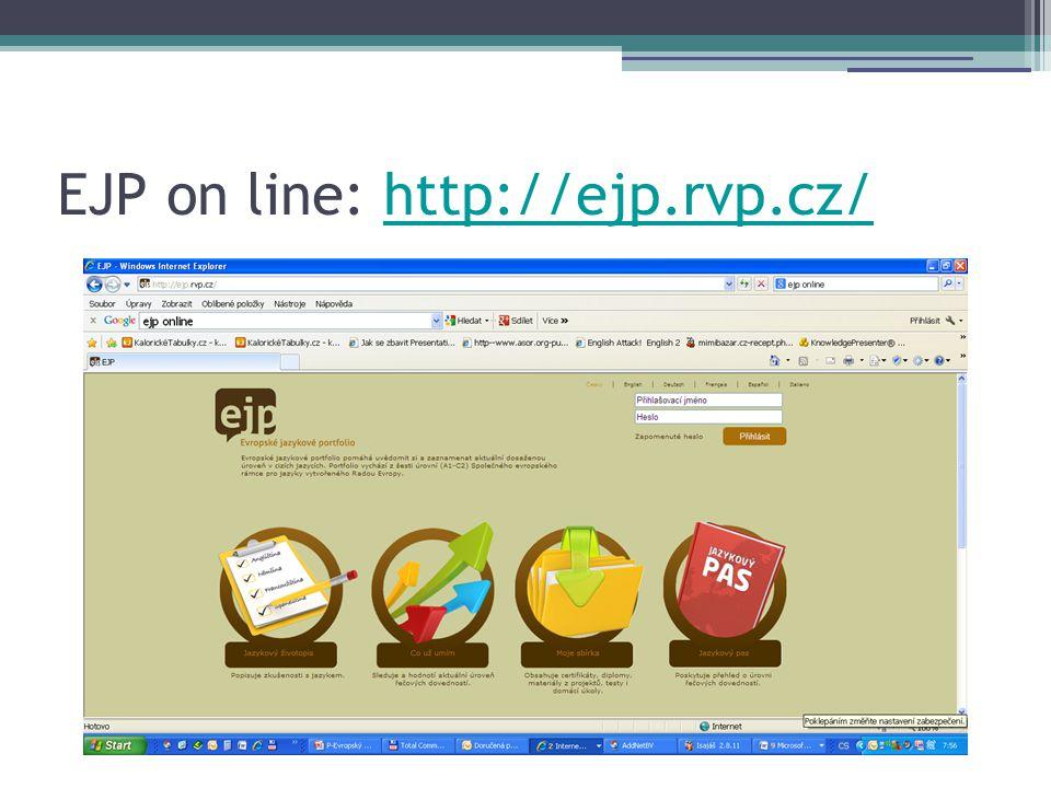 EJP on line: http://ejp.rvp.cz/