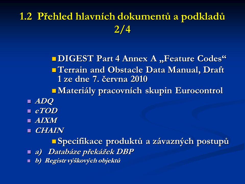 1.2 Přehled hlavních dokumentů a podkladů 2/4