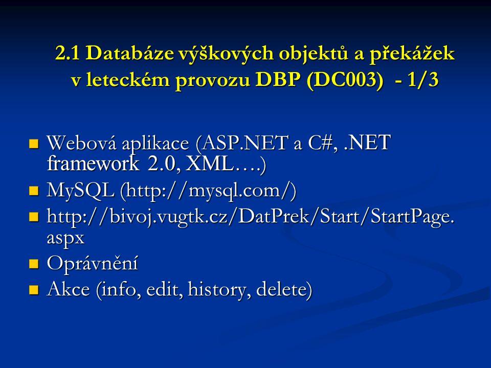 Webová aplikace (ASP.NET a C#, .NET framework 2.0, XML….)