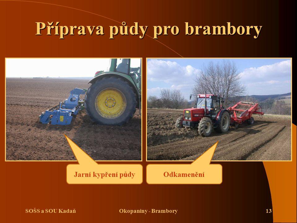 Příprava půdy pro brambory