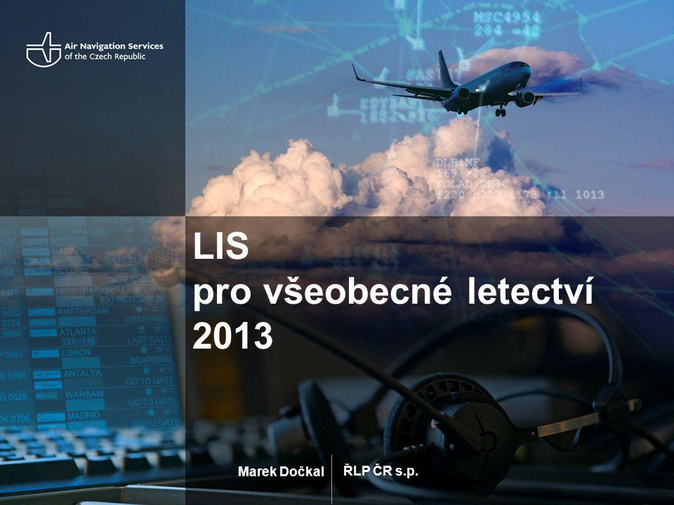 LIS pro všeobecné letectví 2013
