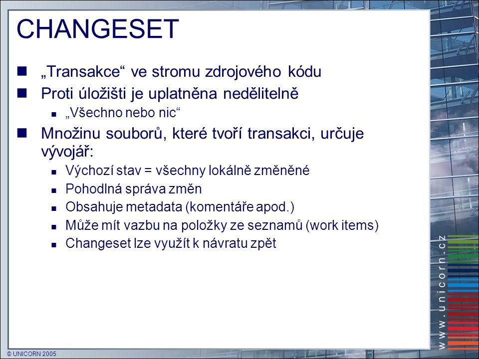 """CHANGESET """"Transakce ve stromu zdrojového kódu"""