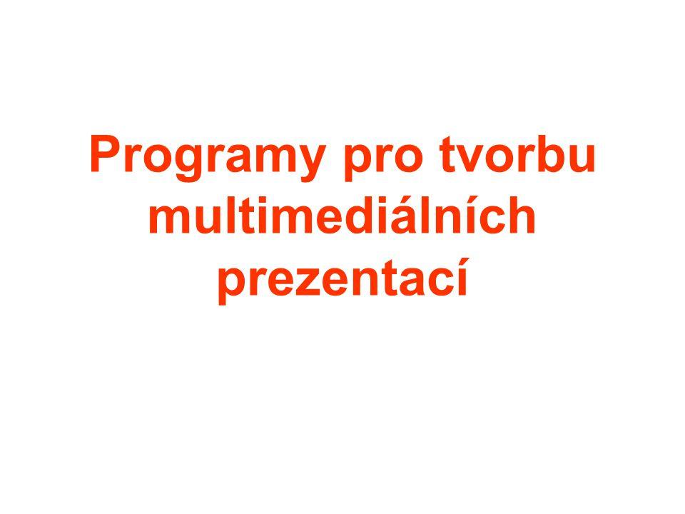 Programy pro tvorbu multimediálních prezentací