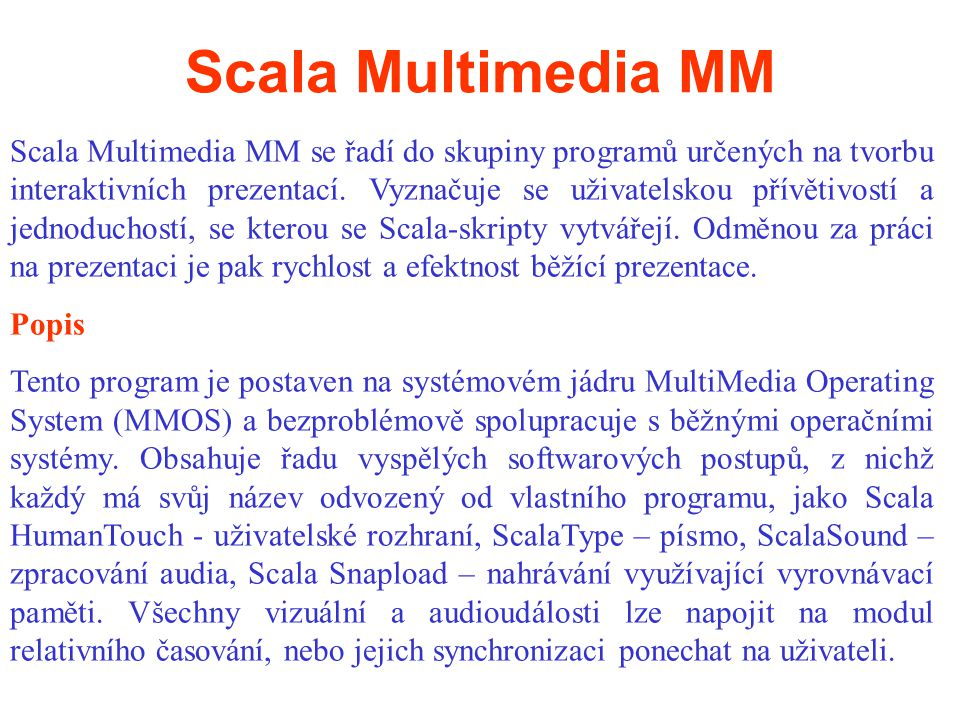 Scala Multimedia MM