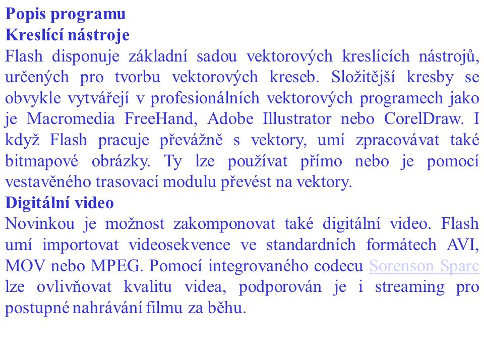 Popis programu Kreslící nástroje.