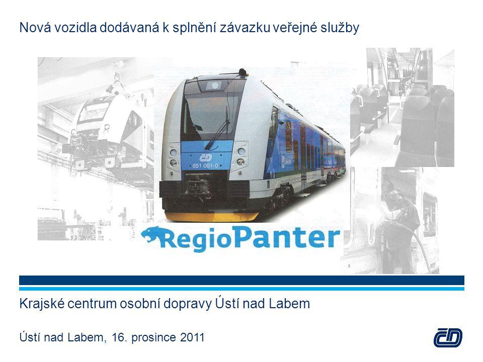Nová vozidla dodávaná k splnění závazku veřejné služby