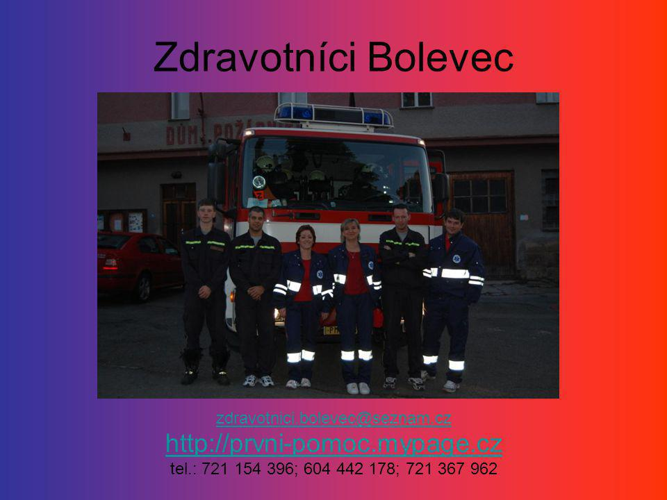 Zdravotníci Bolevec http://prvni-pomoc.mypage.cz