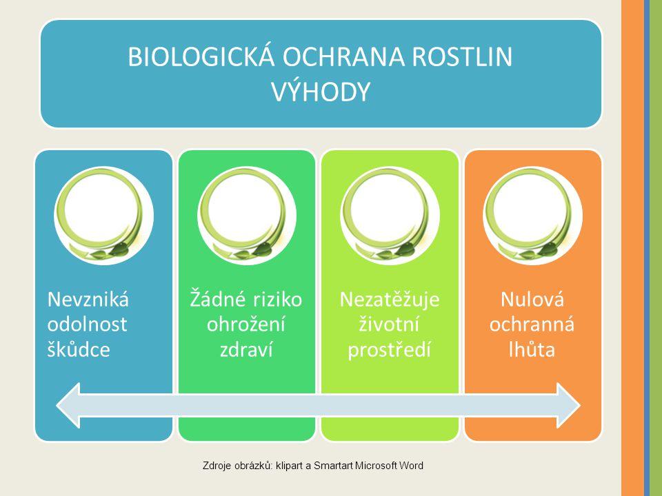 BIOLOGICKÁ OCHRANA ROSTLIN VÝHODY