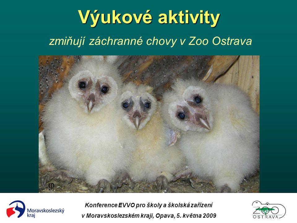 Výukové aktivity zmiňují záchranné chovy v Zoo Ostrava