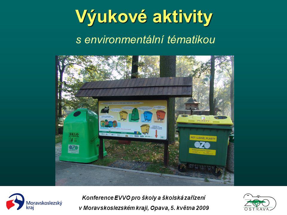 Výukové aktivity s environmentální tématikou