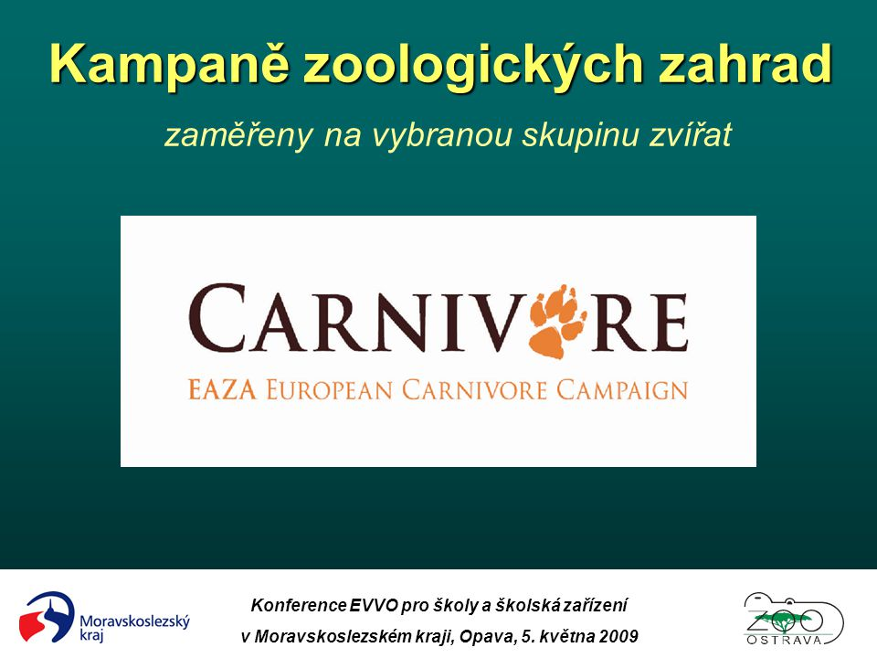 Kampaně zoologických zahrad zaměřeny na vybranou skupinu zvířat
