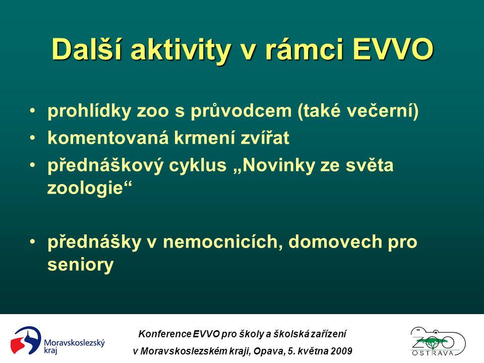 Další aktivity v rámci EVVO