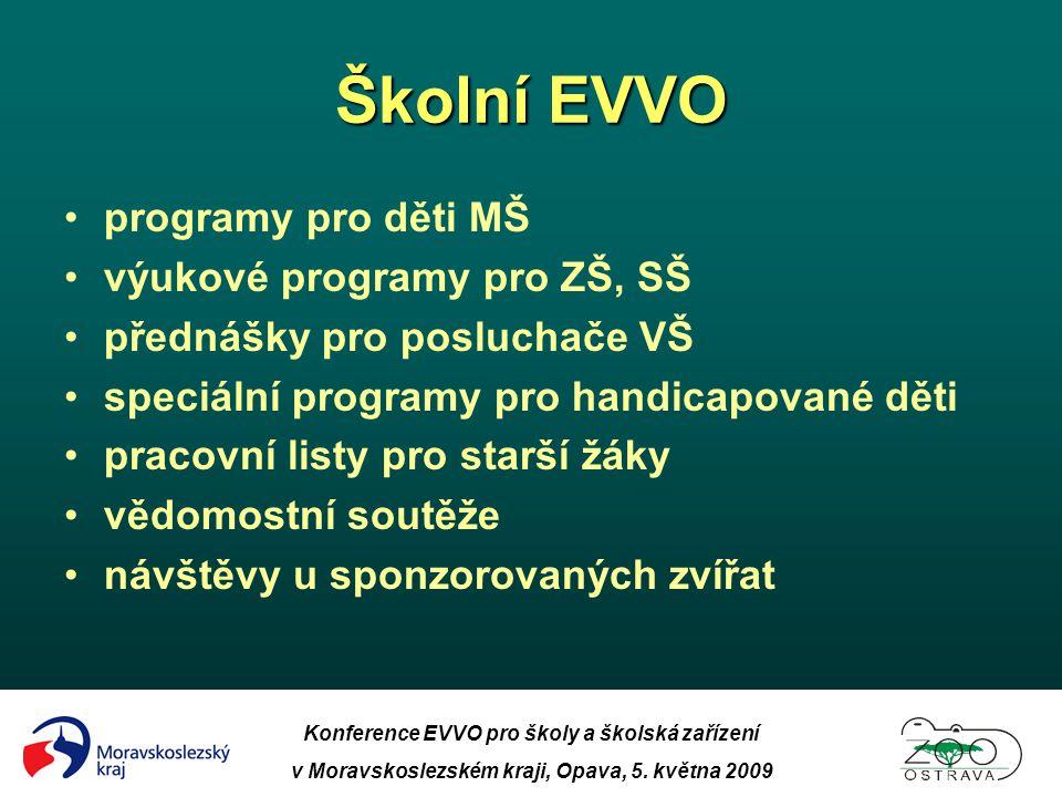 Školní EVVO programy pro děti MŠ výukové programy pro ZŠ, SŠ