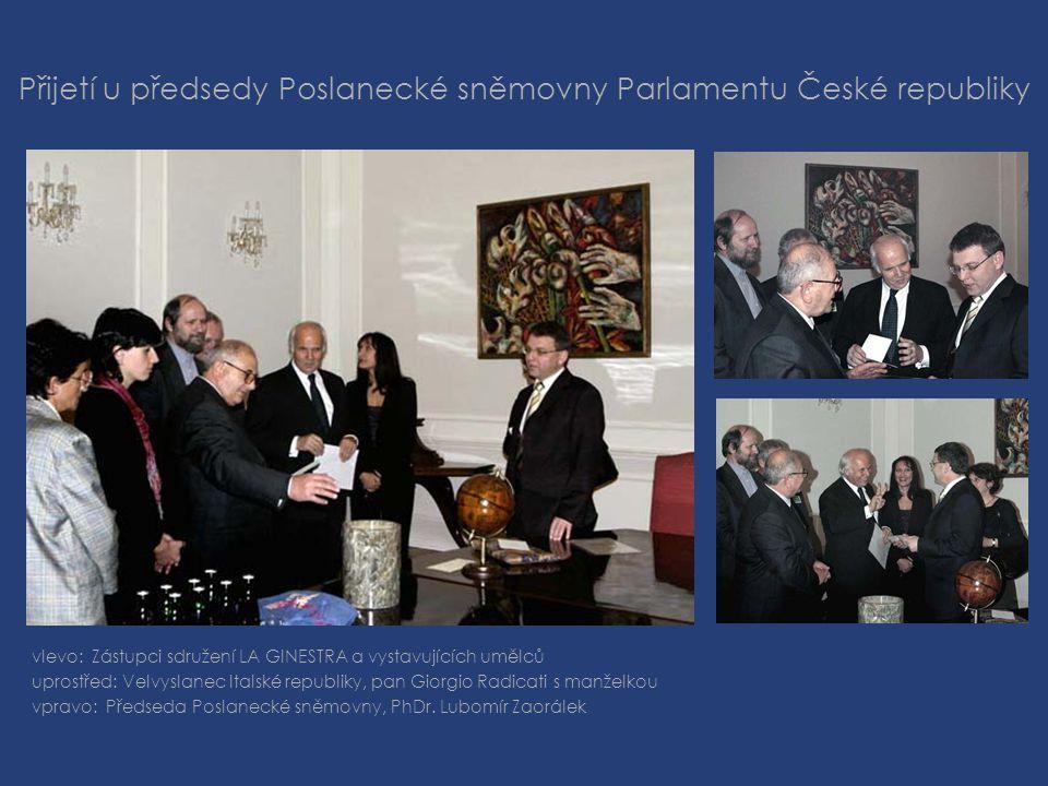 Přijetí u předsedy Poslanecké sněmovny Parlamentu České republiky