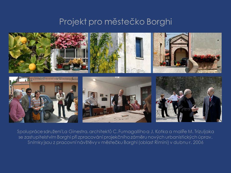 Projekt pro městečko Borghi