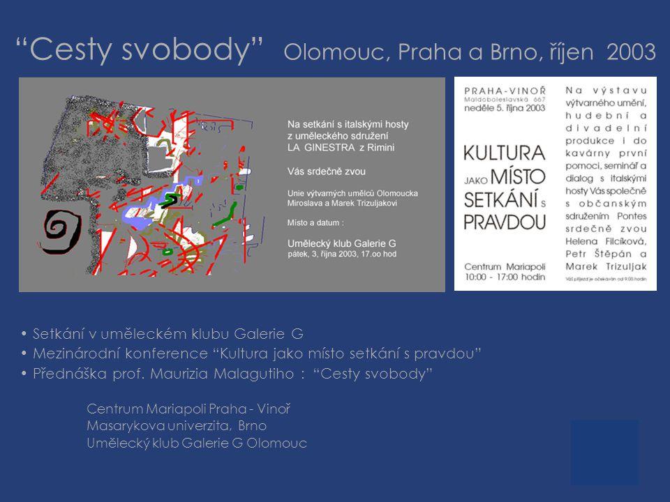Cesty svobody Olomouc, Praha a Brno, říjen 2003
