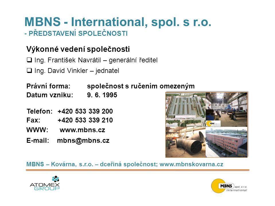 MBNS - International, spol. s r.o. - PŘEDSTAVENÍ SPOLEČNOSTI