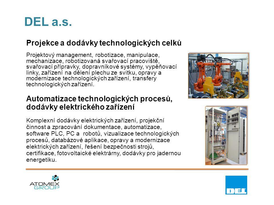 DEL a.s. Projekce a dodávky technologických celků