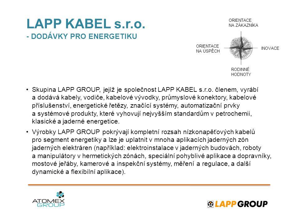 LAPP KABEL s.r.o. - DODÁVKY PRO ENERGETIKU