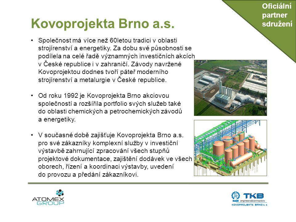 Kovoprojekta Brno a.s. Oficiální partner sdružení