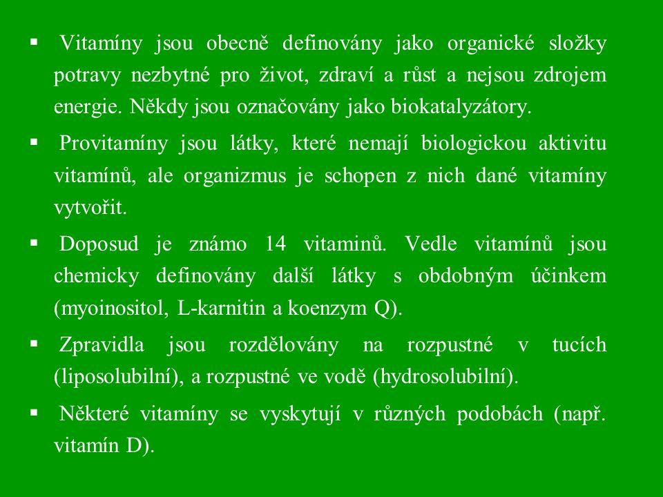 Některé vitamíny se vyskytují v různých podobách (např. vitamín D).