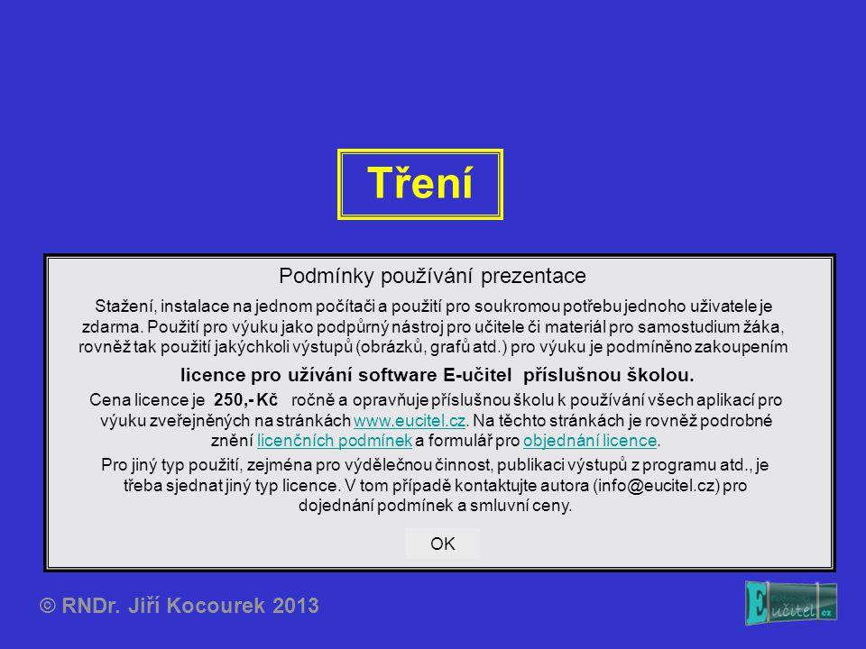 Tření Podmínky používání prezentace © RNDr. Jiří Kocourek 2013