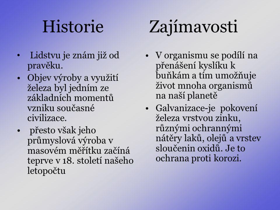 Historie Zajímavosti Lidstvu je znám již od pravěku.