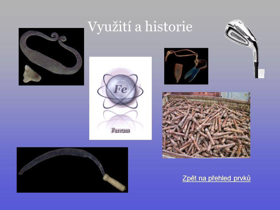 Využití a historie Zpět na přehled prvků