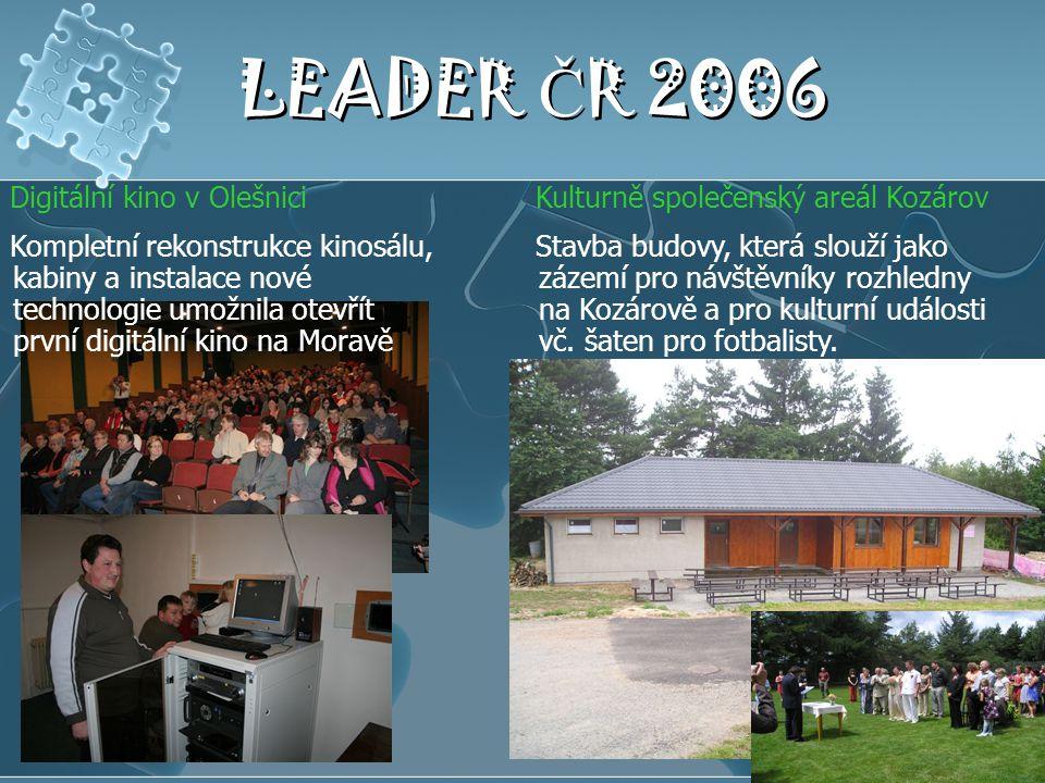 LEADER ČR 2006 Digitální kino v Olešnici