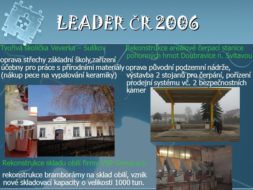 LEADER ČR 2006 Tvořivá školička Veverka – Sulíkov