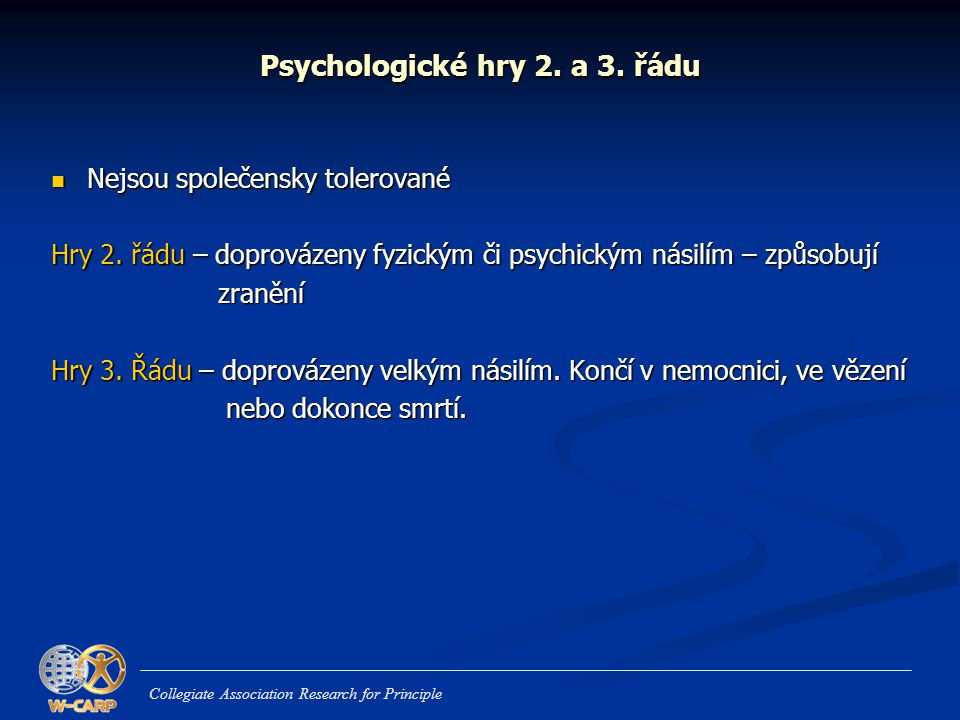 Psychologické hry 2. a 3. řádu
